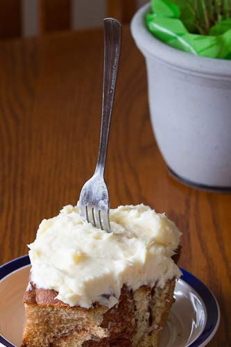 Frosting so dense, it will hold up a fork