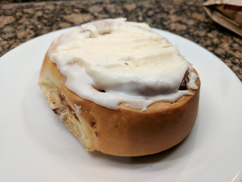 Cinnamon roll from King Soopers in Denver, CO